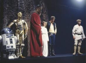 Det glada Star Wars-gänget firar jul, hur kan det gå fel?