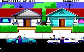 En korrekt utförd arrestering i Police Quest I.