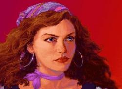 Närbild på Elaine från det första spelet.