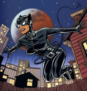 Catwoman i modern kostym.