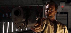 Kyle Katarn med sin favoritpistol.