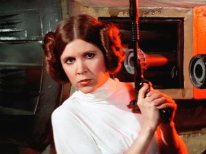 En beväpnad Leia är inget som stormtroopers tycker det är kul att handskas med.