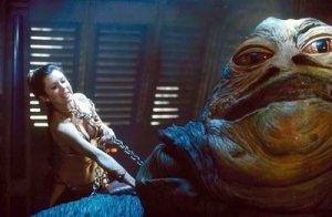 Leia gör slut på den slemmige Jabba.