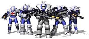 """De olika typerna av """"Laser Marines""""."""