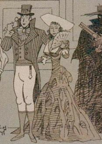 """Mr. and Mrs. Blakeney"" från serien The League of Extraordinary Gentlemen."