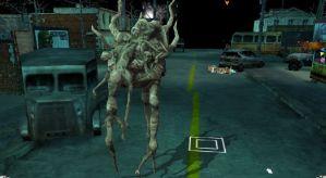 En av de läskiga mutanter som befolkar Jorden efter utomjordingarnas anfall.